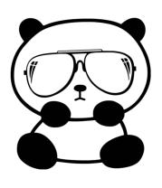 Толстовка без капюшона Панда в очках