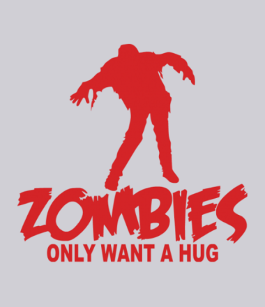 Толстовка Zombies only want a hug