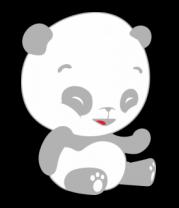 Женская майка борцовка Панда смеется