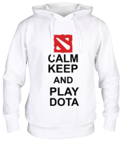 Толстовка Keep calm and play dota