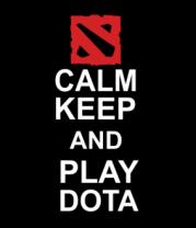 Толстовка без капюшона Keep calm and play dota
