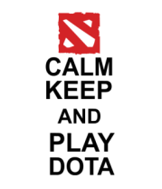 Женская футболка  Keep calm and play dota