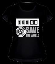 Женская футболка  Save the world