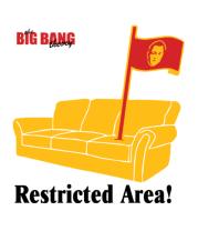 Детская футболка  The Big Bang Theory. Restricted area!