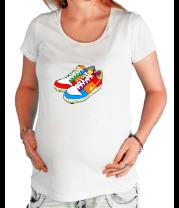 Футболка для беременных Кеды