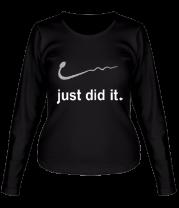 Женская футболка с длинным рукавом Just did it