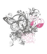 Коврик для мыши Бабочка и цветы