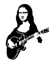 Мужская майка Мона Лиза с гитарой