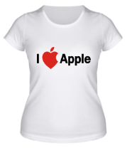 Женская футболка  I love apple