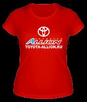 Женская футболка  Автоклуб Toyota Allion