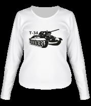 Женская футболка с длинным рукавом Т-34
