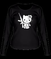 Женская футболка с длинным рукавом Kitty Soldier