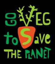 Толстовка Go veg to save the planet