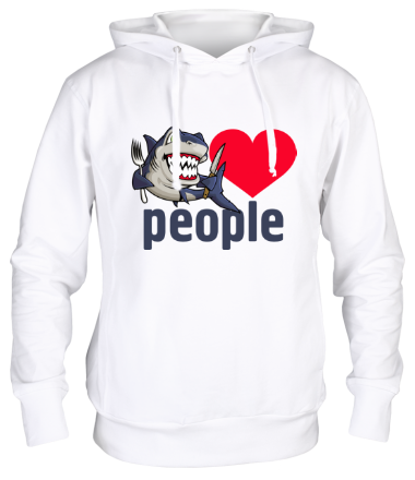 Толстовка Shark love people