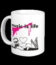 Кружка Music is life