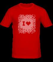 Мужская футболка  I love Pixel