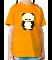 Детская футболка  Серьезная панда glow