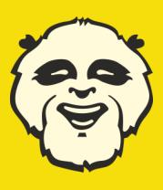 Детская футболка  Веселая панда glow