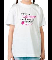 Детская футболка  Любовь вампира