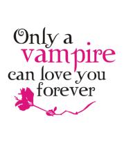 Женская футболка с длинным рукавом Любовь вампира