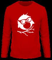 Мужская футболка с длинным рукавом Совенок в очках