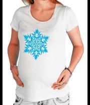 Футболка для беременных Остроугольная снежинка