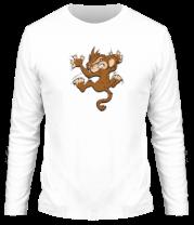 Мужская футболка с длинным рукавом Обезьяна
