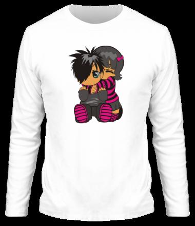 Мужская футболка с длинным рукавом Эмо двое