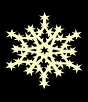 Мужская майка Остроконечная снежинка (свет)
