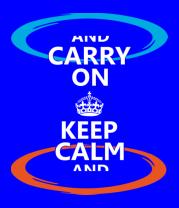 Детская футболка  Keep calm... (portal)