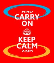 Мужская футболка с длинным рукавом Keep calm... (portal)