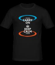 Мужская футболка  Keep calm... (portal)