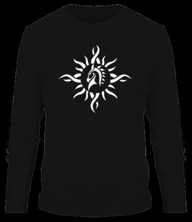 Мужская футболка с длинным рукавом Лошадь - узор