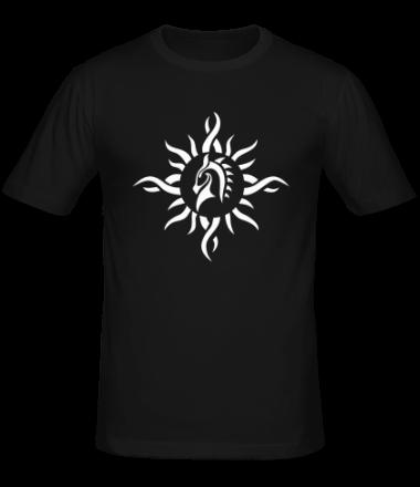 Мужская футболка  Лошадь - узор