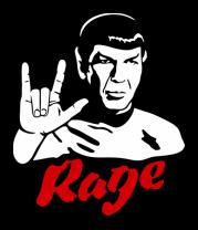 Мужская футболка с длинным рукавом Spock rage