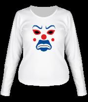 Женская футболка с длинным рукавом Маска клоуна