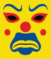 Женская футболка  Маска клоуна