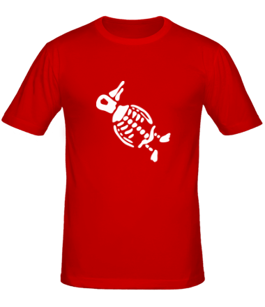 Мужская футболка  Пингвин скелет