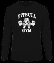 Мужская футболка с длинным рукавом Pitbull gym (для темных основ)