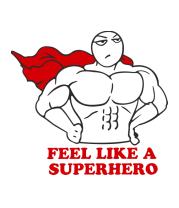 Толстовка без капюшона feel like superhero