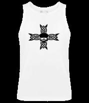 Мужская майка Череп на кельтском кресте