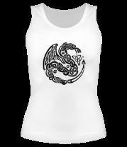 Женская майка борцовка Кельтский дракон