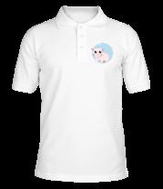 Футболка поло мужская Розовая кошка