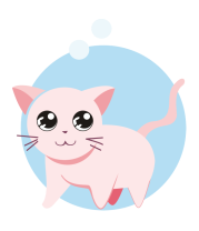 Мужская футболка  Розовая кошка