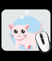 Коврик для мыши Розовая кошка
