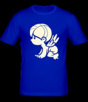 Мужская футболка  Ангел парная (glow)