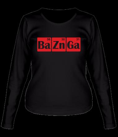 Женская футболка с длинным рукавом Bazinga