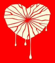 Мужская футболка  Разбитое сердце (свет)
