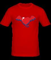 Мужская футболка  Демоническое сердце