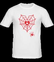 Мужская футболка  Паутина любви